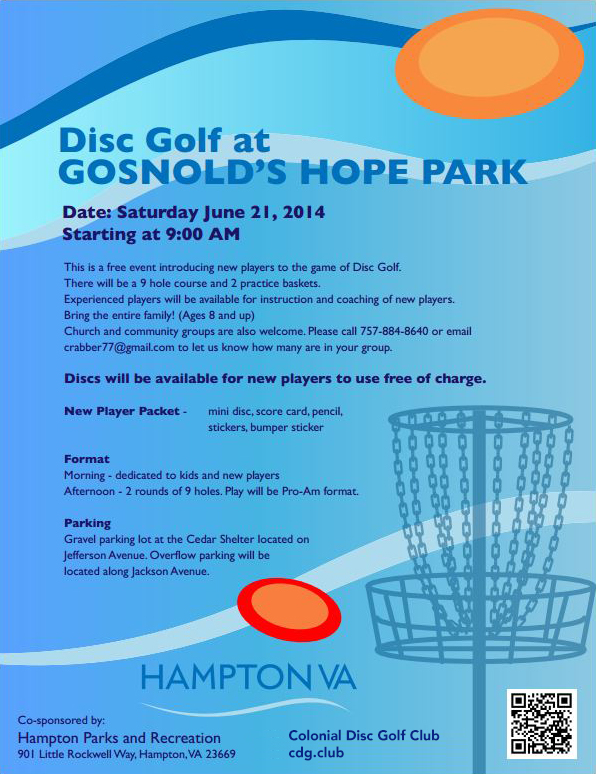 Disc Golf at Gosnolds Hope Park